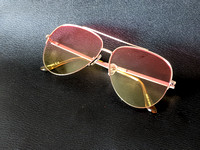 Aviator Sunglasses Pink and Yellow Fade