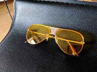 Aviator Sunglasses Yellow Frameless