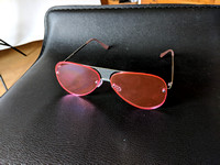 Aviator Sunglasses Pink Frameless